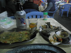 chinese bbq - oysters and egg plant
