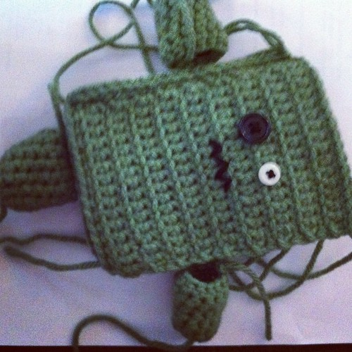 Big brother #amigurumi #monster. A #crochet #present for zagazoo's big brother. Just need to finish the leg