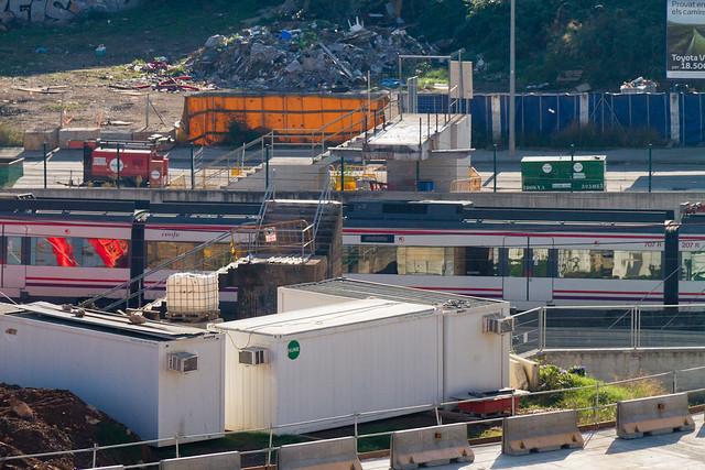Demolición de la última pasarela de peatones en Triangle Ferroviari - 24-10-12