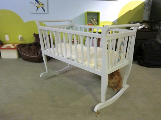 Finished Cradle with Dog