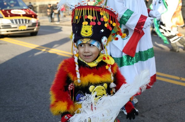 Boy dancing at Three Kings' Day Parade