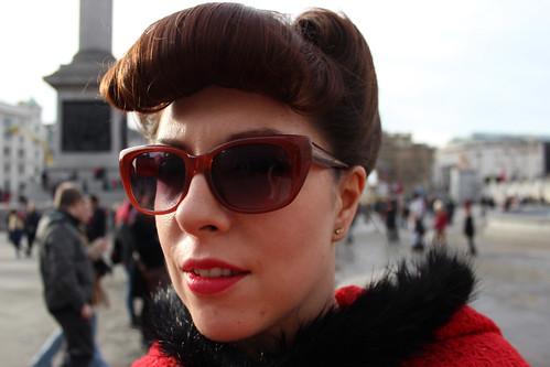Side hair in Trafalgar Square 3
