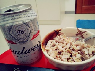 ice cold beer with home made sisig