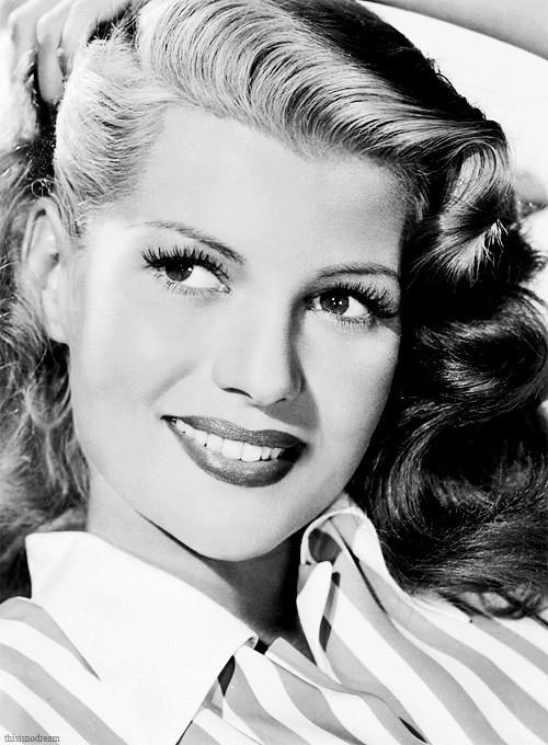 Rita Hayworth, 1940s.