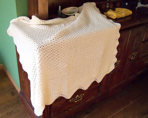 baby blanket draped