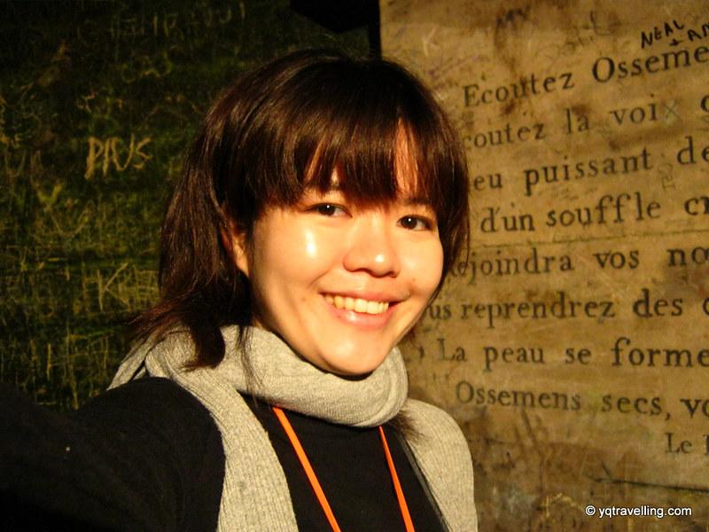 YQ at Catacombs of Paris