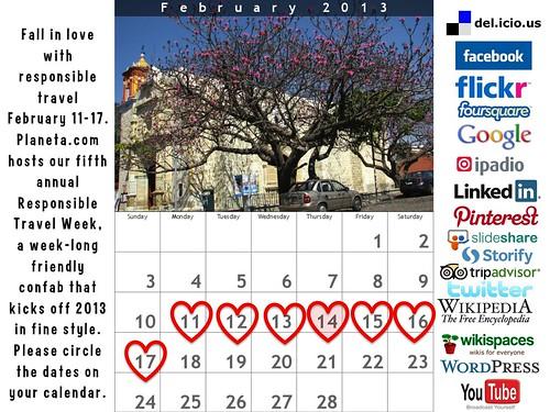 Circle the dates on your calendar: Responsible Travel Week 2013 #rtweek2013