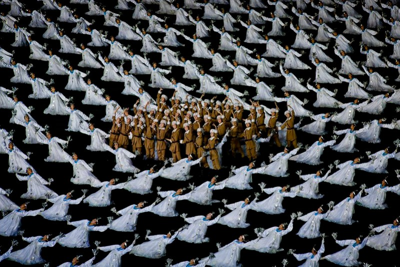 Arirang (Mass Games) performance, Pyongyang (DPRK / North Korea) 2012