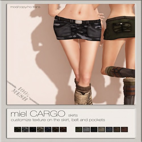 miel CARGO SKIRT @ The Deck