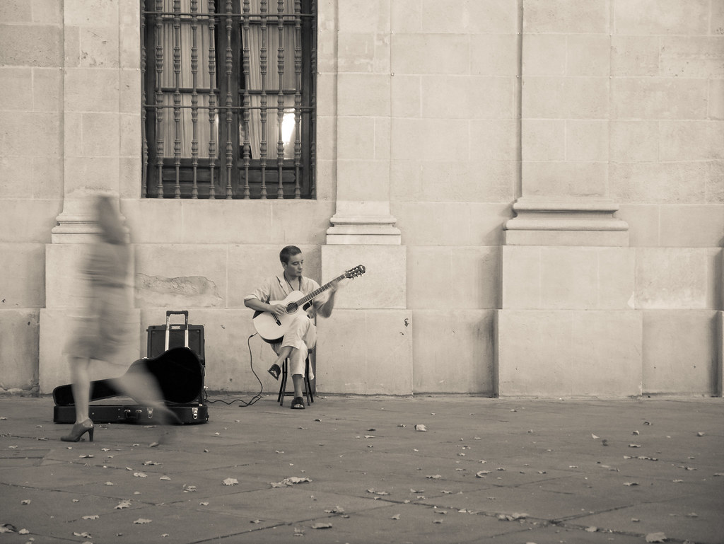 Busker playing Little Wing