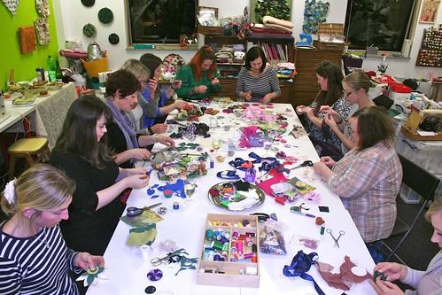 Vintage Fabric Flowers workshop