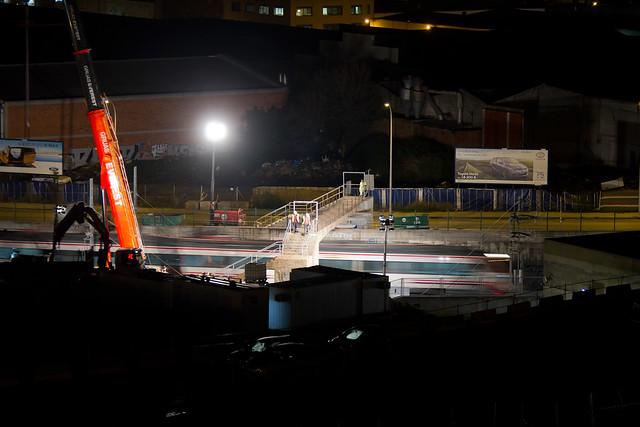 Demolición de la última pasarela de peatones en Triangle Ferroviari - 22-10-12