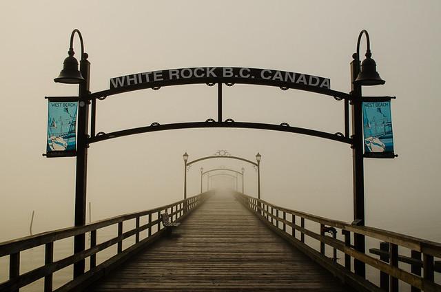 White Rock Pier in the Fog