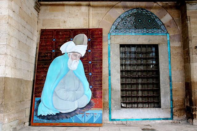 Rumi's tomb art