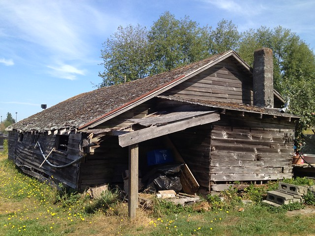Dilapidated barn