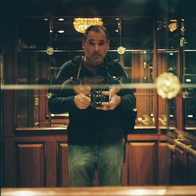 Rolleiflex 2.8e -- Venetian Hotel Elevator -- Las Vegas Self Portrait