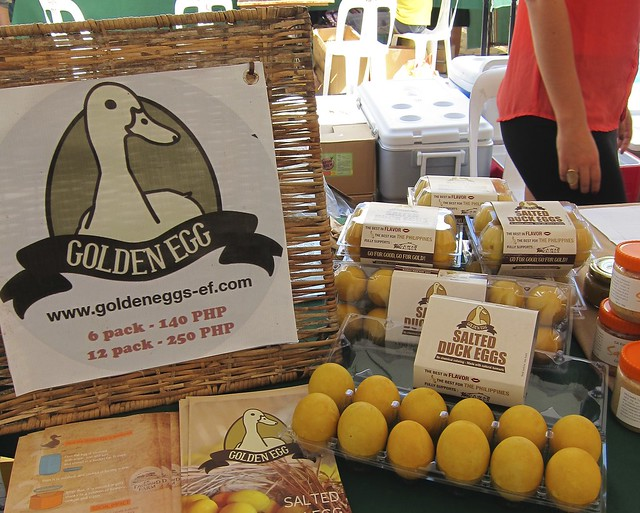 Golden Salted Duck Egg and other Gawad Kalinga Enchanted Farm products ONLY at Morning Mercato's Healthy, Organic & All-natural market...