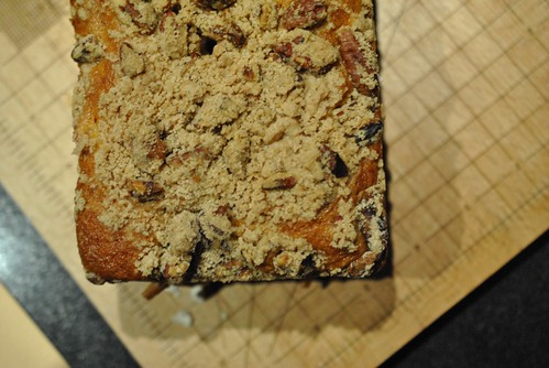 Loaf of Cranberry Orange Pecan Coffee Cake