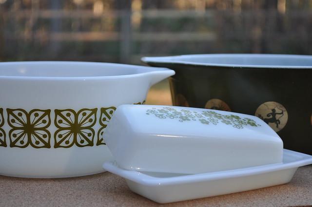 Spring Blossom Butter Dish, Verde Square Flowers Casserole, Zodiac Casserole