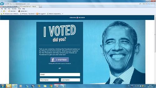 i vote obama by cristiana.piraino