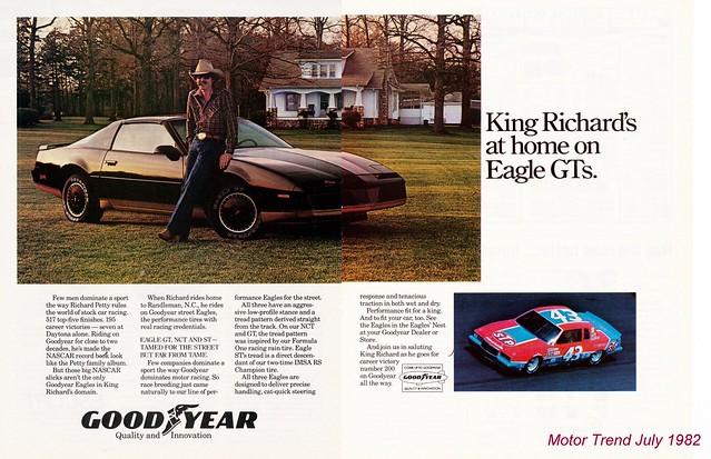 Richard Petty / Goodyear - Motor Trend July 1982