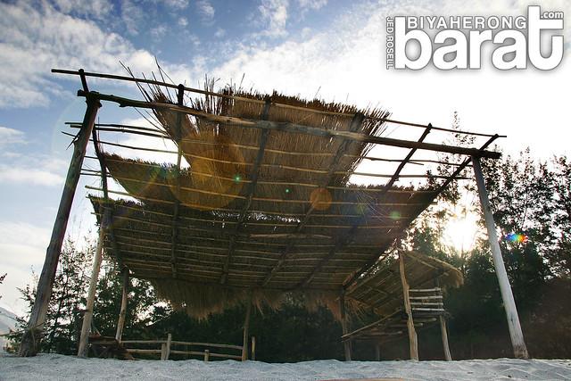 open huts in nagsasa cove zambales