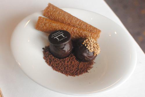 brown sugar cookies and chocolate truffles