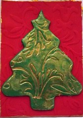 ATC: Christmas Ornament no. 6 - Red and Green
