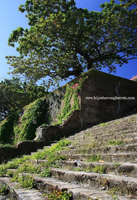 Stairs to the church of Santa Maria Ilocos Sur