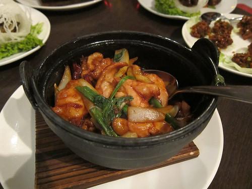 Clay Pot Sanpei, Corn fed Chicken