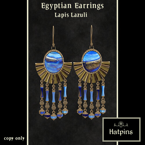 Egyptian Earrings - Lapis Lazuli