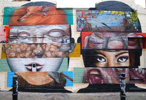 Graffiti, Hanbury Street, East London, England.