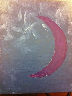 Painting of moon sign