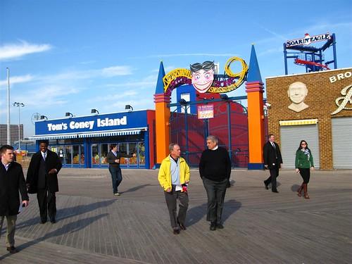 Mayor Bloomberg in Coney Island