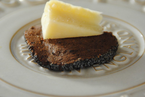 Chocolate biscuit for cheese