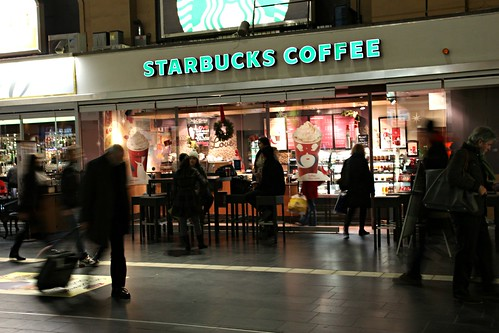 Starbucks Coffee Store in the Central Station