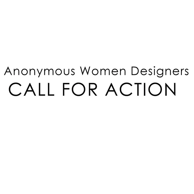 Anonymous Women Designers /CALL FOR ACTION for 2LEI