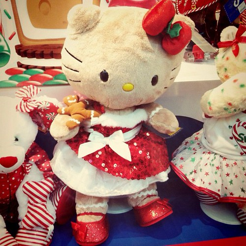 """I had to see it for myself, after my friend told me her daughter pointed it out #buildabear #hellokitty """"mama look! ms.esther would love that"""" they know me too well...xD"""