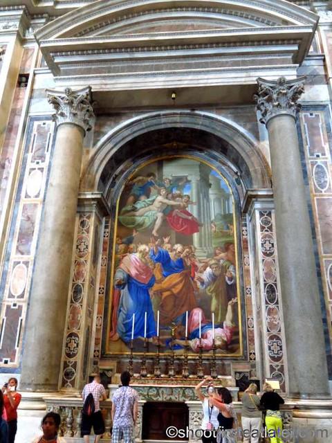 St. Peter's Basilica- Altar of the Lie