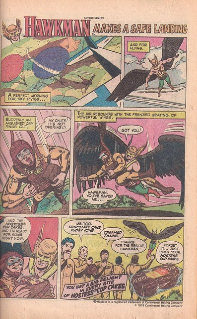 Hawkman Saves the Day and the Cupcakes Ad 1980