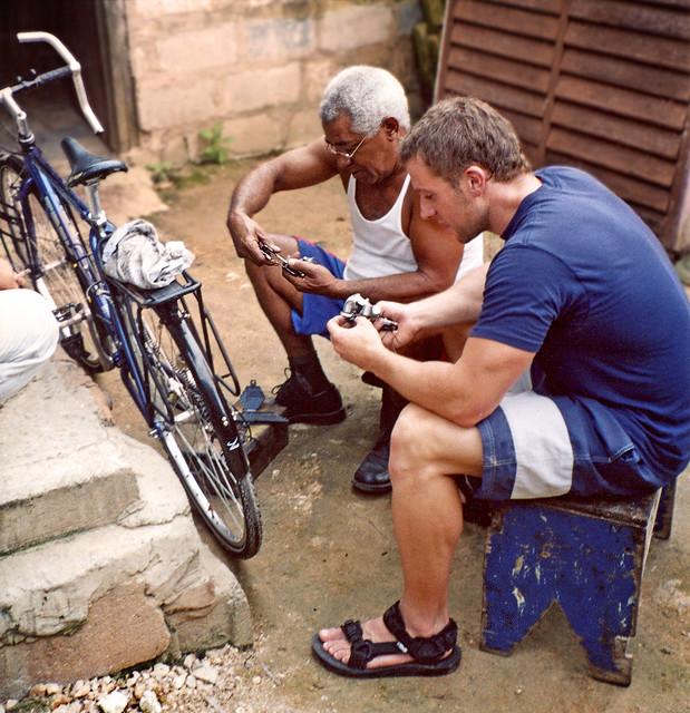 Bicycle Repairs, Santa Marta, Matanzas, Cuba