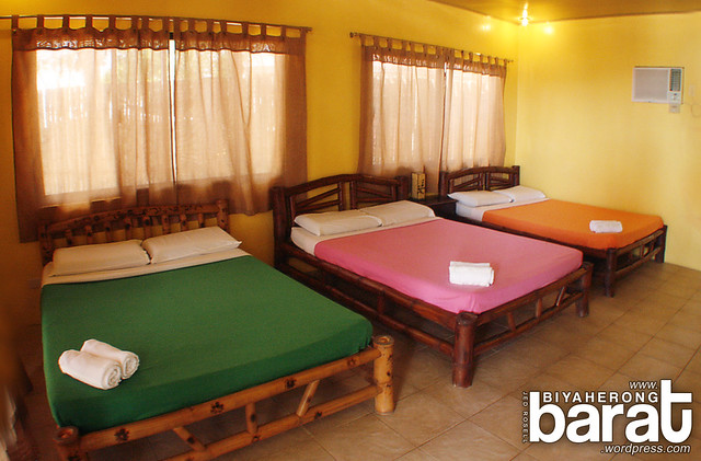 Big beds for 6 in laiya batangas san juan