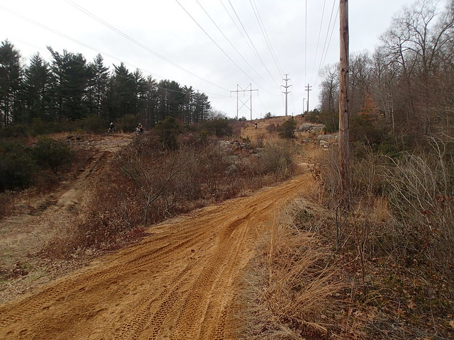 Powerlines were the hardest part for me, harder than the woods. I couldn't believe how hard it was. What you don't see in this pic are all the giant rocks that you have to ride over to go up or down.