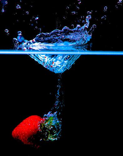 Strawberry Splash 2 by Corbin Elliott Photography