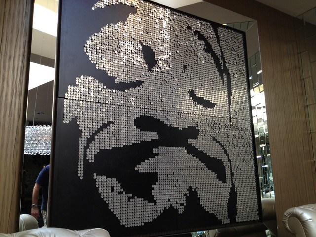 Sequin artwork, Riviera Resort