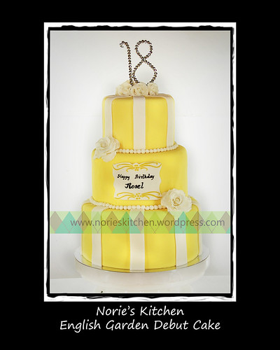 Norie's Kitchen - English Garden Debut Cake by Norie's Kitchen