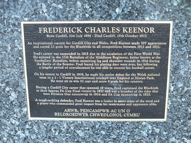 Fred Keenor Statue Unveiling