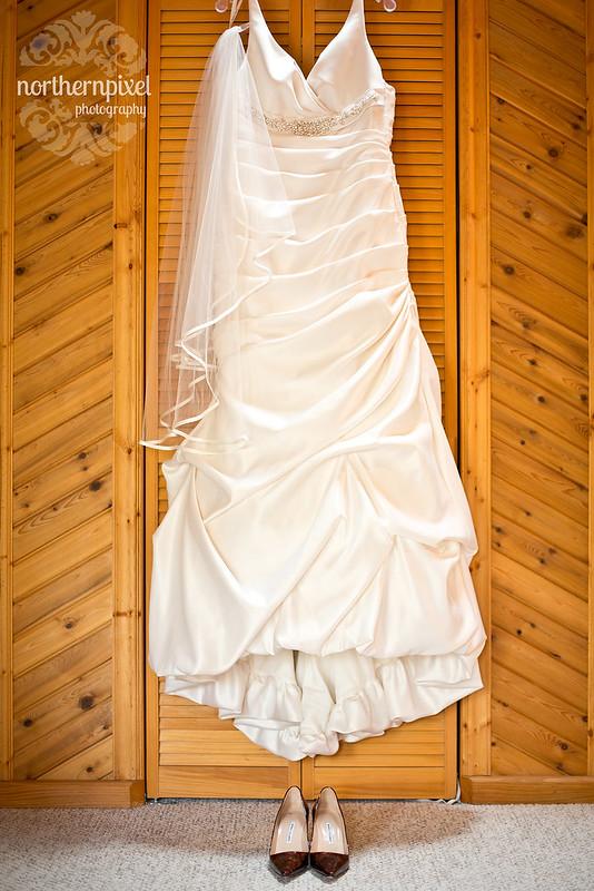 Wedding Dress and Manolo Blahnik Shoes