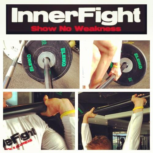 Axle bar. Much fun. #fatgrip #strength #awkward #training #lifting #innerfight