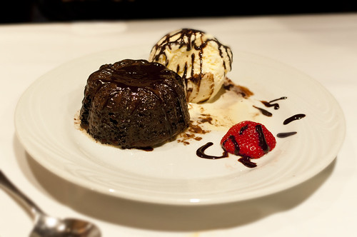 Chocolate Molten Cake, Ice Cream